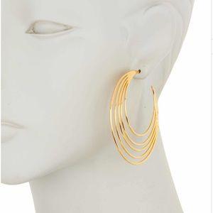 New w tags Gorjana Casey Hoop Earrings